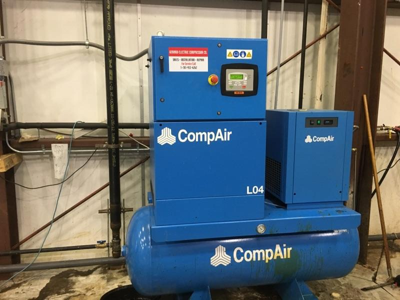 compressed air installation