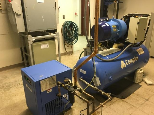 Compair air compressor installation